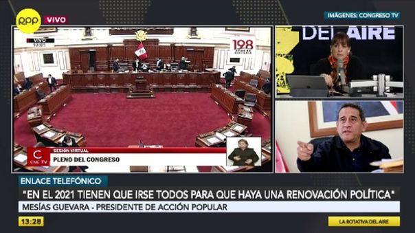 """mesias-guevara:-""""una-vacancia-presidencial-afectaria-mas-la-crisis-politica-del-pais"""""""