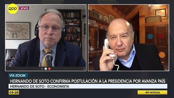 """hernando-de-soto-sobre-eventual-candidatura-presidencial:-""""estamos-bien-situados-para-ofrecer-una-alternativa""""-[video]"""