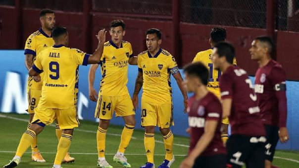 con-goles-de-tevez-y-wanchope,-boca-juniors-gano-2-1-a-lanus-por-la-copa-liga-profesional-2020